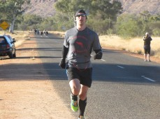 At the finish of my 10th half marathon around a 6:25/mile pace
