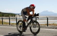 150K into the 180K bike leg of Ironman Cairns